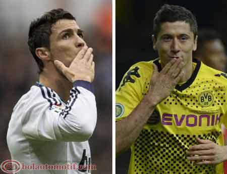 Cristiano Ronaldo Real Madrid Lewandoski Borussia Dortmund