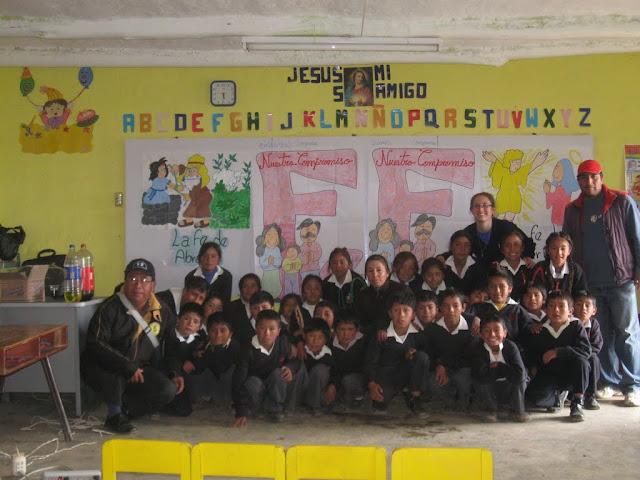 con niños en Cochaya