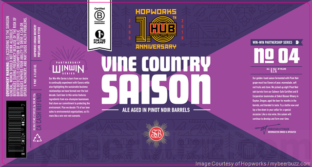 Hopworks Moment Of Clarity No 02 & Vine Country Saison No 04 10th Anniversary Beers