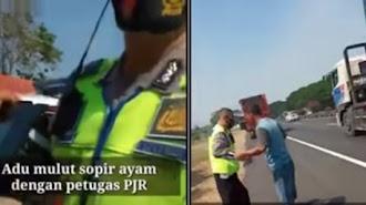 Viral Video : Polisi Batal Tilang Sopir Truk Usai Terima Telpon, Apa yang Terjadi?