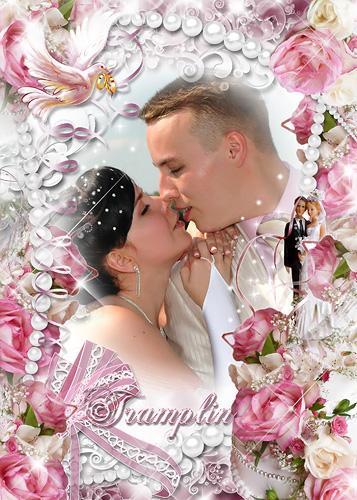 Свадебная рамка для Photoshop -  Любви вам страстной и красивой