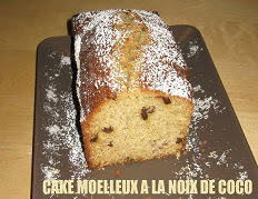 Cake moelleux à la noix de coco