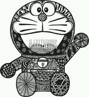 Contoh Gambar Doodle Doraemon Simple Keren Blog Tips 2 Kartun