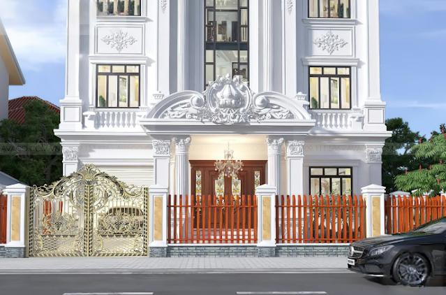 Biệt thự cổ điển với kiến trúc đẹp lộng lẫy tại Tiền Giang