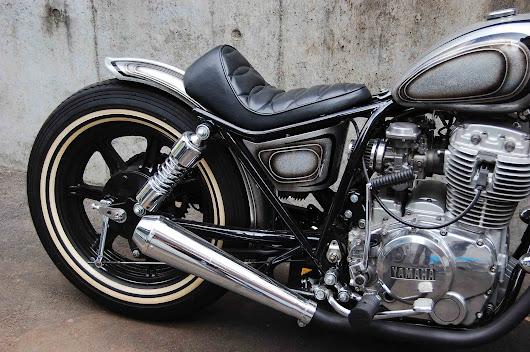Yamaha XS650 Bobber Bratstyle Oldschool Motorcycle Badass