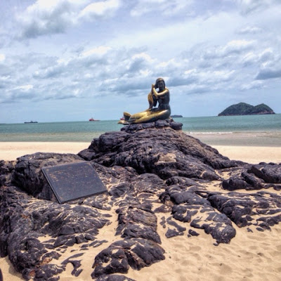 Mermaid Statue Samila Beach