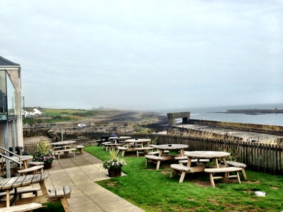 Beer Garden at The Jolly Fisherman Pub, Craster