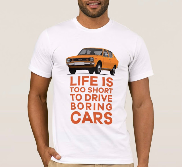 Life is too short to drive boring cars - Datsun 100A t-shirt