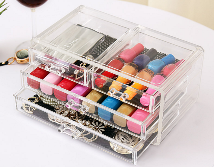 Bottom portion of  Acrylic Makeup Organizer