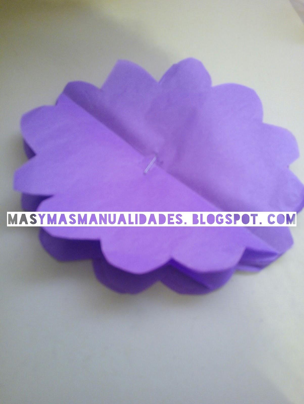 ms y ms manualidades Crea un centro de mesa con papel de seda y