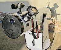 """SkyWatcher Newton Dobson 10"""" - konfigurace pro fotografování Slunce / Sun photography configuration"""