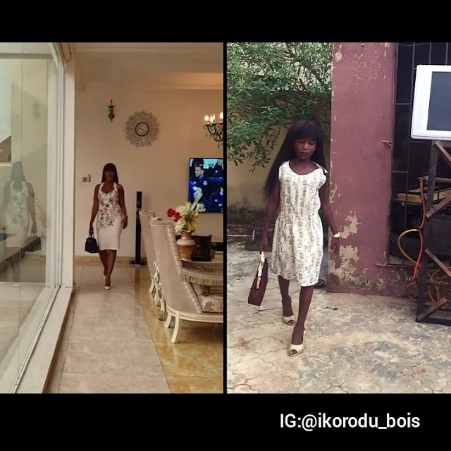 Ikorodu Bois Mimic Linda Ikeji Stepping Out In Style. Fans React