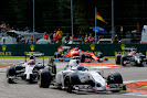 Valterri Bottas, Williams FW36 Mercedes, leads Kevin Magnussen, McLaren MP4-29 Mercedes