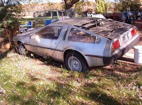 Abandoned DeLorean DMC-12
