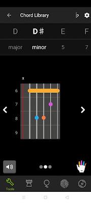 Chord library guitar tuna