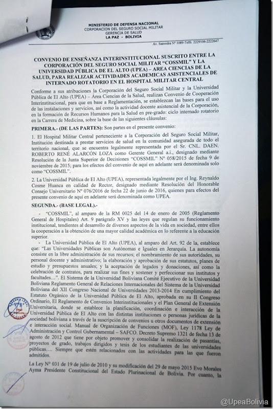 Convenios de la UPEA