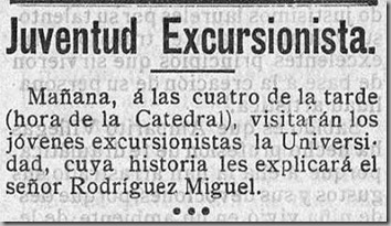 hora de la catedral juventud excurisonista adelanto 25 5 1912