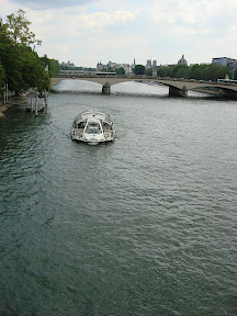 These bateaux ply the Seine, filled with tourists.  It seems like it would be fun to go on one.