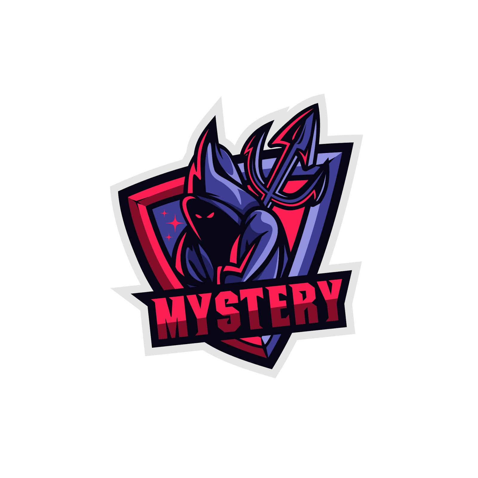 Mystery Logo Squad Free Download Vector CDR, AI, EPS and PNG Formats