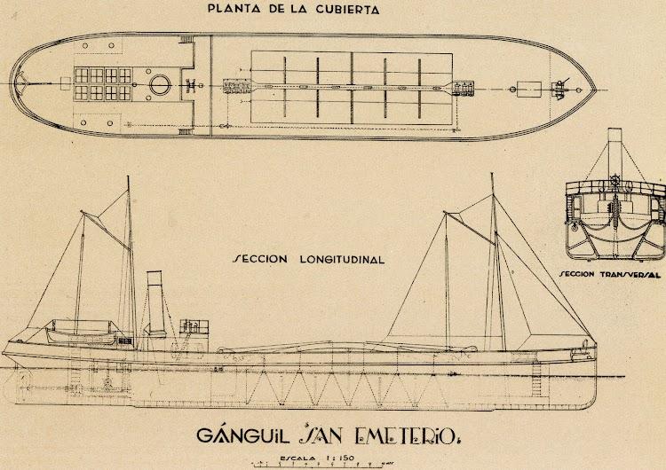 Planos del SAN EMETERIO. Del libro Los Barcos de la Junta del Puerto de Santander. 1884-1991.jpg