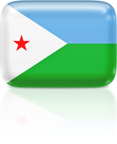 Djiboutian flag clipart rectangular