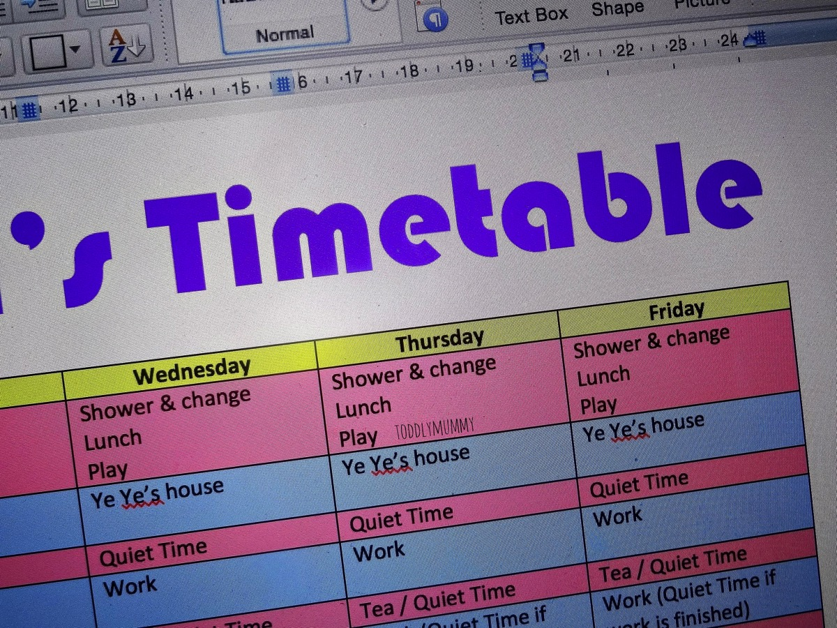 P1 Timetable 2