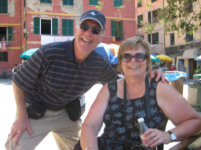 This is Mike and Sue.  They hiked from Monterosso to Vernazza.  Whoah.