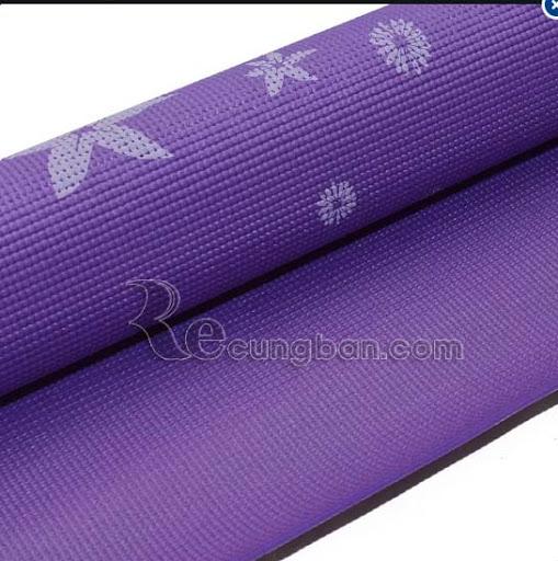 Thảm tập Yoga hoa văn cao cấp