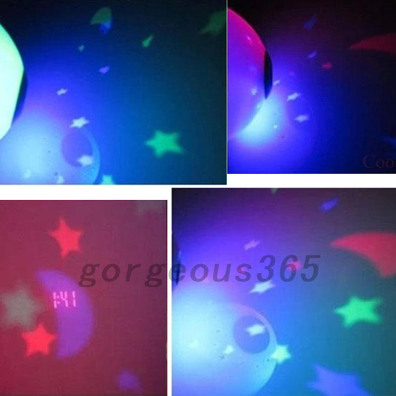 Digital Led Desk Night Light Alarm Clock Star Moon Time