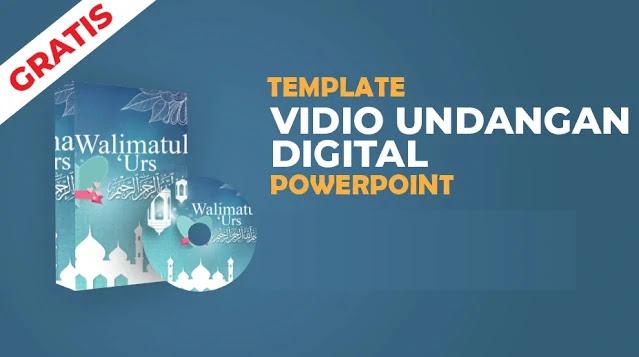 Free PPT : Download Template Video Undangan Digital Pernikahan Powerpoint