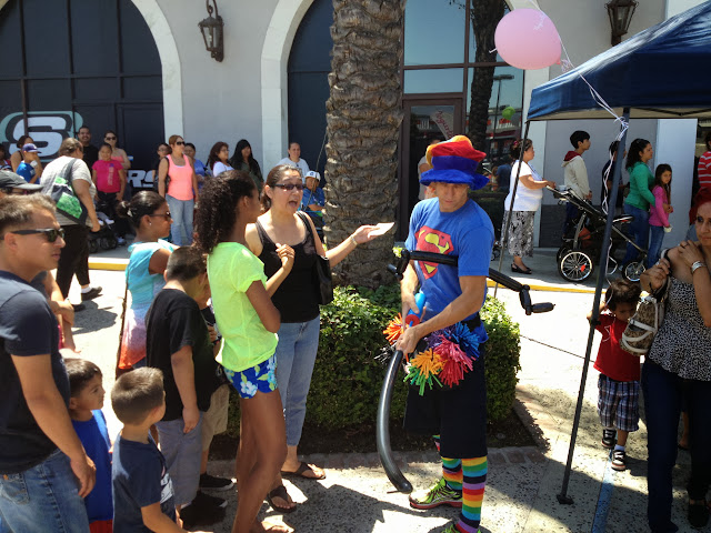 Balloons and giveaways were a big attraction