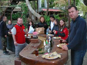 Photo: Kahvaltı - Saat: 06.00 - Barda Alabalıklar yüzüyor Tlos Yakapark - Kalkan - 17.04.2010