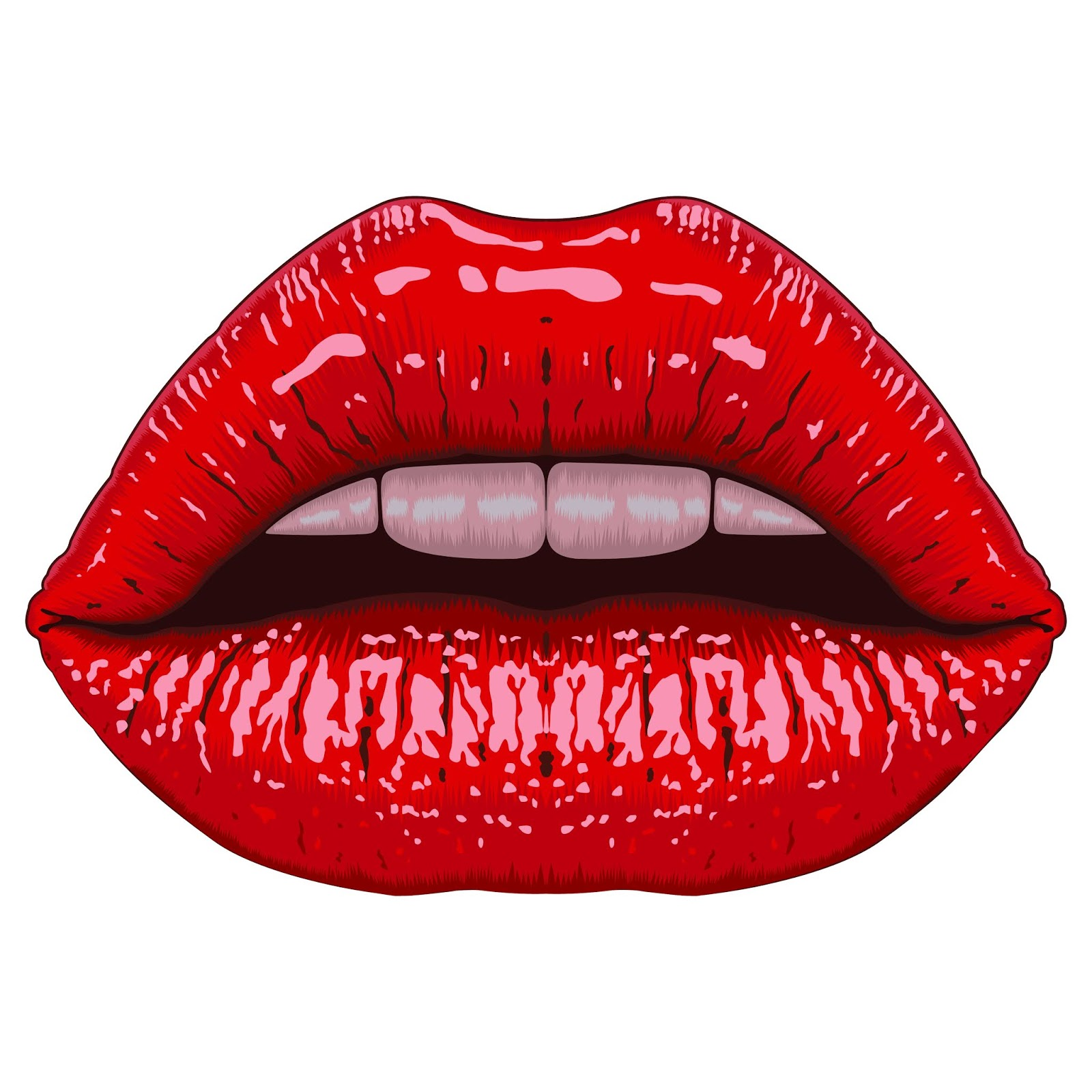 Realistic Lips Free Download Vector CDR, AI, EPS and PNG Formats