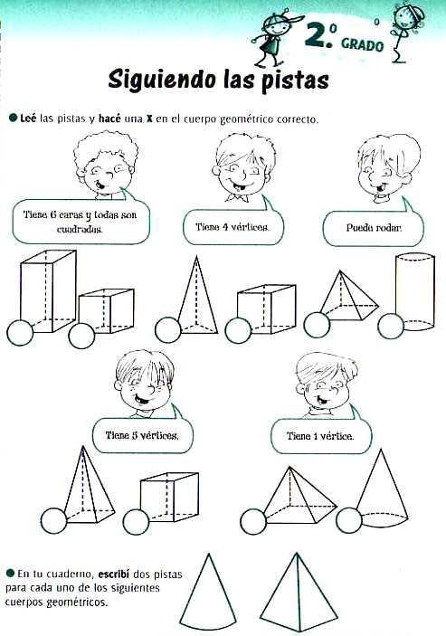 El casillero de Mila: Cuerpos geométricos