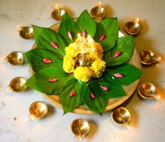 diwali with Paan & Marigold flowers