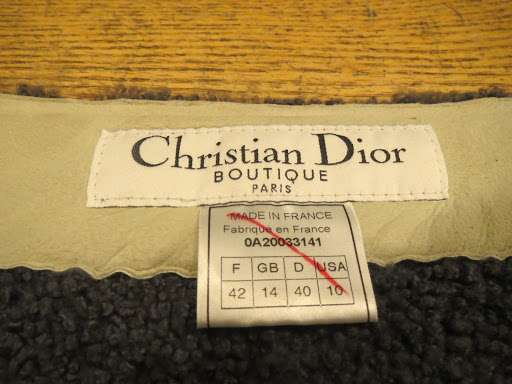 6ff61125321 Christian Dior Boutique Shearling Skirt