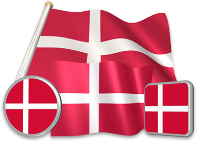 Danish flag animated gif collection