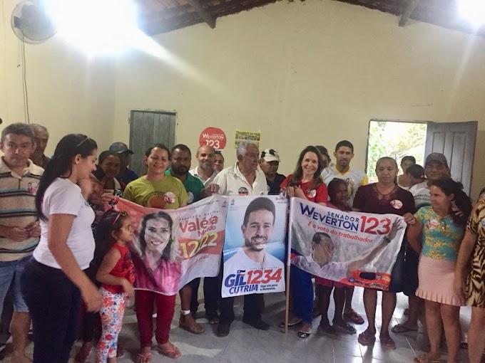 Kariadine Maia participa de reuniões em Pedreiras.....