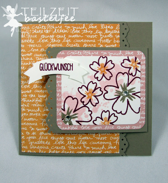 Stampin' Up! - In{k}spire_me #253, Joy Fold Karte, Lieblingsmensch, Love & Affection, Sunshine Sayings, Grüße voller Sonnenschein, Envelope Punch Board, Stanze Bannerduo, Punch Duet Banner