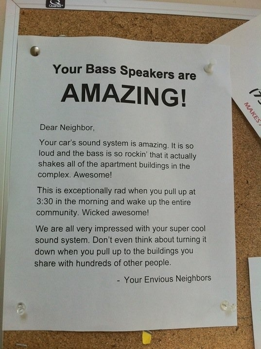 Envious Neighbors Notice