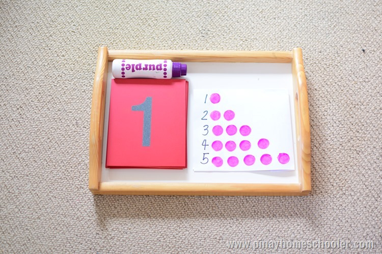 SANDPAPER NUMBERS AND COUNTING WITH DO DOTS