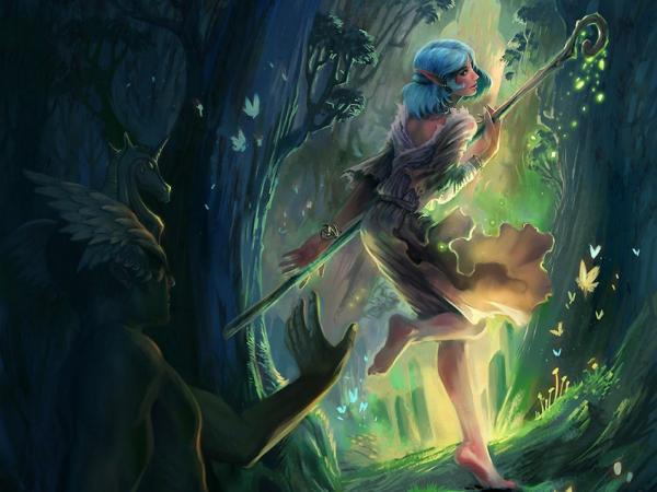 Elven Sorcerer In Magic Wood, Elven Girls 2
