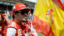 Fernando Alonso on the grid