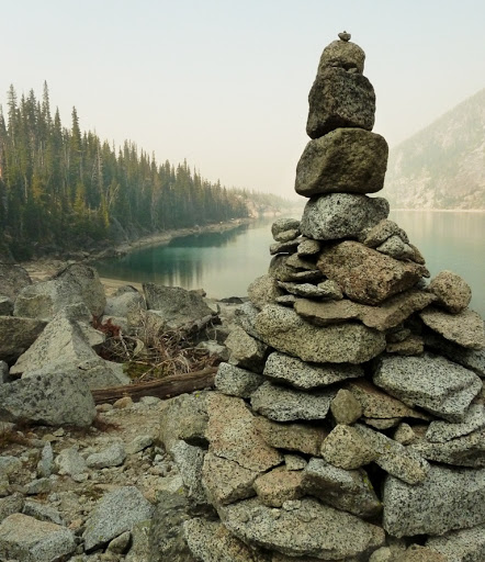 Cairn in the Enchantments, Washington - Ross Freeman
