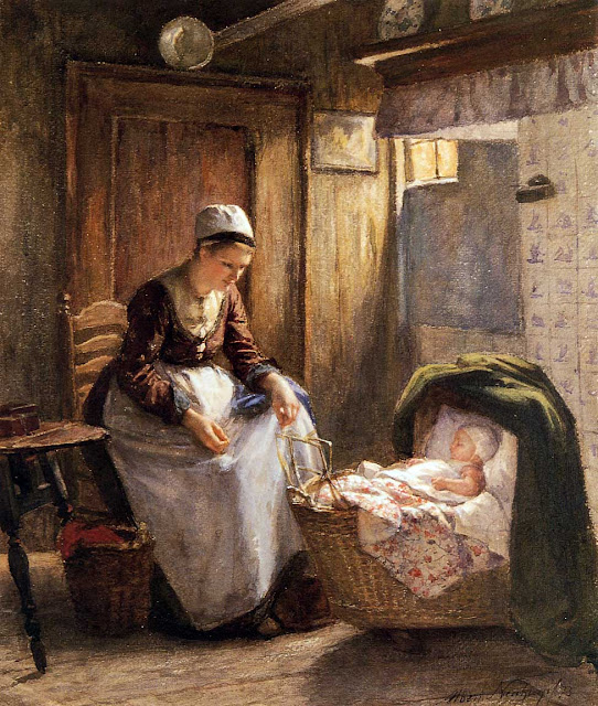 Albert Neuhuys - Motherly care