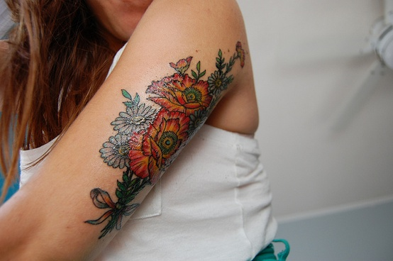 single flower tattoo design