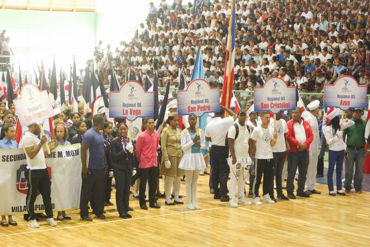 INEFI apertura IV Festival Nacional de Marcha Escolar 2018 en San Cristóbal