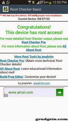 Rooting samsung galaxy grand 2 (G7102) - check