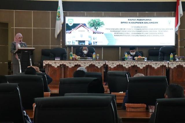 Paripurna, Legislatif Balangan Bahas Raperda dan Pertanggungjawaban APBD 2020