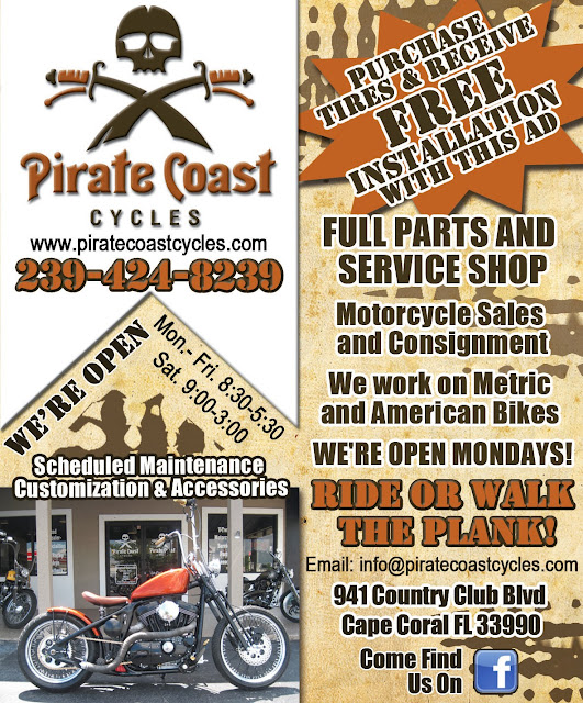 Pirate Coast Cycle QP Ad